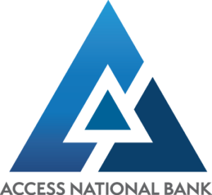 Logo for Access National Bank, a sponsor of the FETCH a Cure 5K