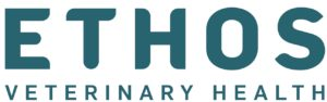 Logo for Ethos Veterinary Health, a sponsor of the FETCH a Cure 5K