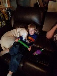 Kilo with his human brother